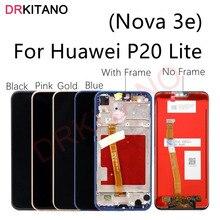 Dla Huawei P20 Lite wyświetlacz LCD ekran dotykowy Digitizer Nova 3e LCD ANE LX1 LX3 L23 ekranu dla Huawei P20 Lite z ramą
