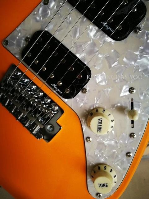 36 cali kolory gitara elektryczna gitara podróżna standardowe dzieci gitara elektryczna praktyka grać podwójny pickup rocker 36 cali gitara tanie i dobre opinie Sunset Color Green Blue Orange Red Yellow Length 86 CM Width 28 CM 600 MM Double Double 1V1T 5 Stalls Poplar Maple