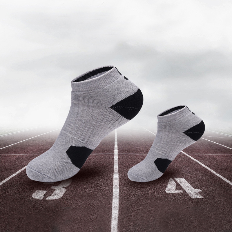 3 Pairs Elite Basketball Socks Men's Short Tube Thick Towel Bottom Sports Men's Socks Low Help Boat Socks Sokken Bamboo Socks