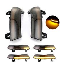 Luz de led dinâmica para passat b6 vw golf 5, indicador de espelho de ré, 2 peças peças automotivas, peças automotivas