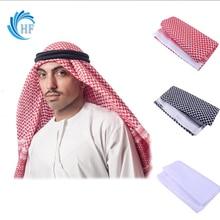 Islamic Traditional Costume Red Prayer Hats Men Islam Plaid Head Scarf Jewish Muslim Turban Saudi Arabia Dubai Arabic Indio Caps