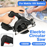 Brushless 125mm Electric Circular Saw Handle Power Tools 1000w 11000RPM Woodworking Cutting Machine For Makita 18V Battery
