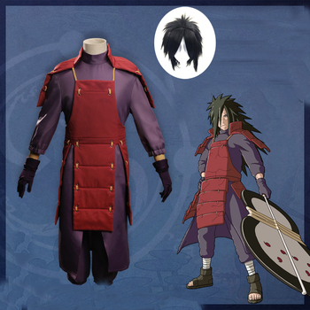 Hot Sale Anime NARUTO Uchiha Madara Cosplay costumes Battle Suit Halloween Party Naruto Full Set wig shoes cosplay Costume - discount item  32% OFF Costumes & Accessories