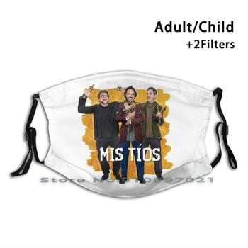 Mexican Filmmakers ( With Text ) | Mis Tíos Reusable Mouth Face Mask Anti Haze Dustproof Mask With Filters For Child Adult Film image