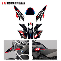 Body protection sticker motorcycle decoration reflective decal modified appearance film for BMW R1200GS R1200 GS ADV 2004 2007