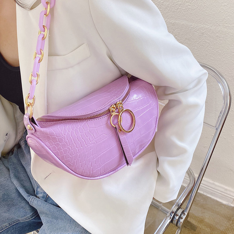 Crocodile Pattern Chain Small PU Leather Crossbody Bags For Women 2020 Summer  Shoulder Handbags And Purses