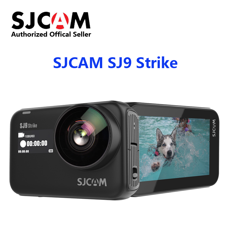 Original SJCAM SJ9 Strike 4K WIFI Action Camera Supersmooth GYRO/EIS Waterproof  Wireless Charging Live Streaming Sports Camera