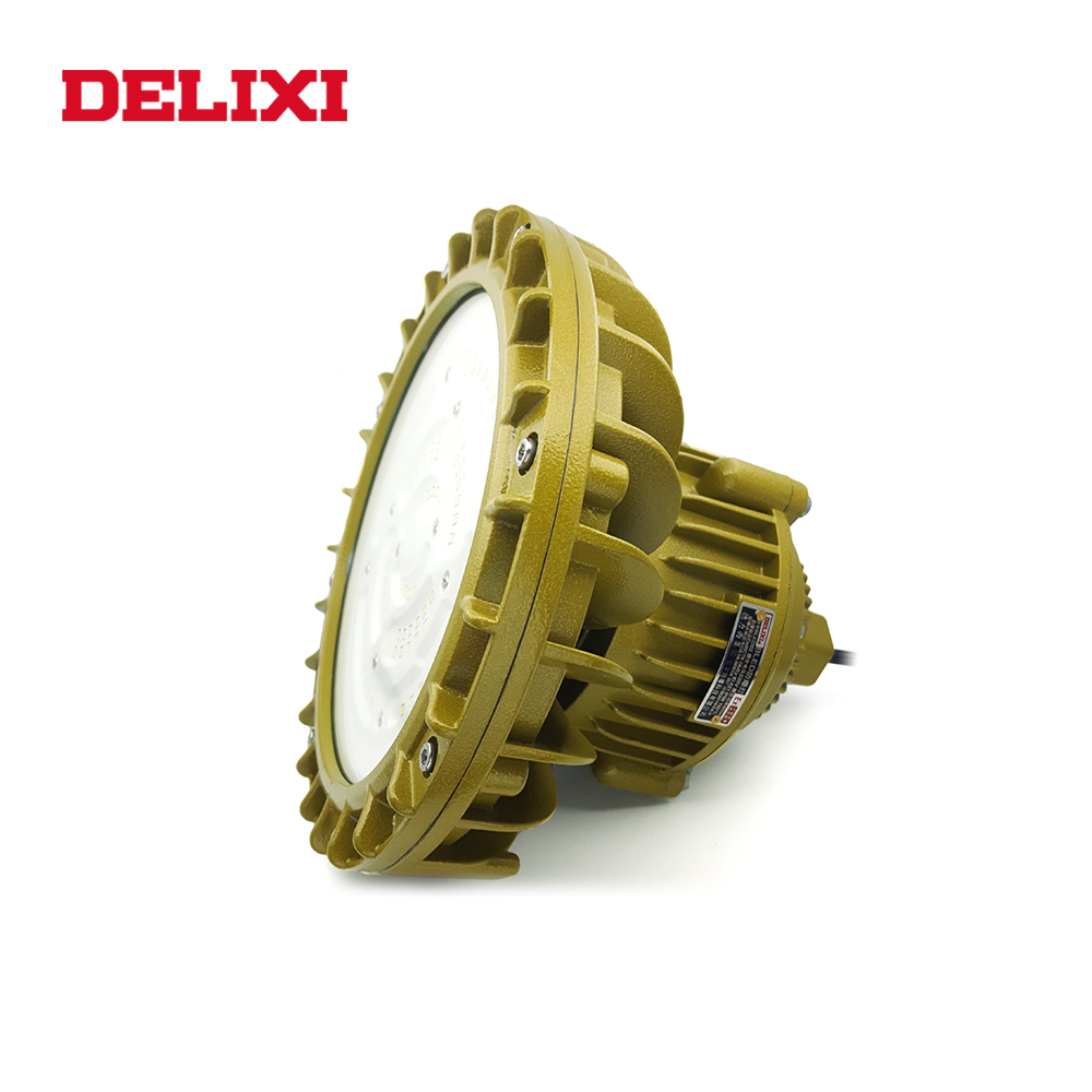 DELIXI BLED62 LED Explosion Proof Light 60W 80W 100W AC 220V Ip66 WF1 Flame-proof Type Industrial Factory Light