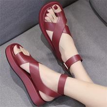 Summer Shoes Woman Female Platform Cross Tied Sandals Girls