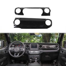 Auto Center Consoles Decoratie Decals voor Jeep Wrangler JL 2018 Console Cover Dashboard Trim Sticker Auto Accessoires(China)