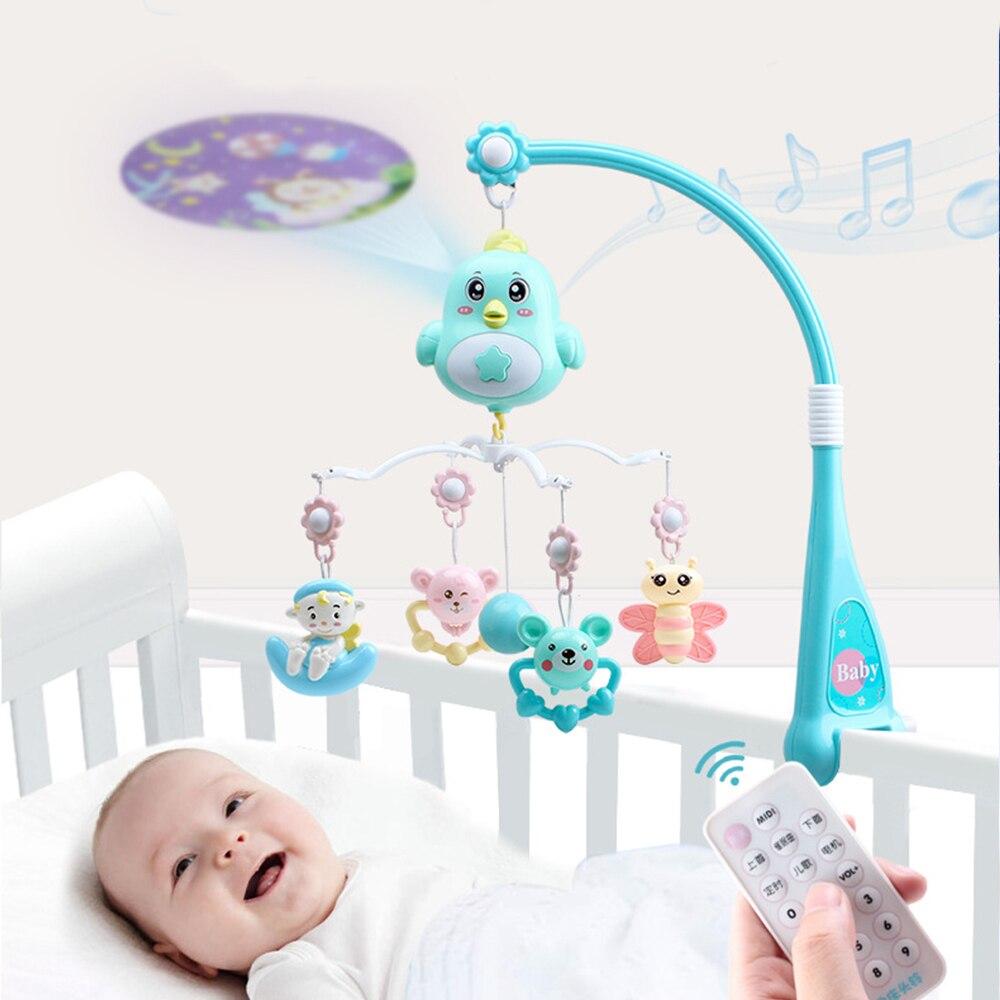 0-12 Months Crib Mobiles Rattles Newborn Toys Music Educational Toys For Baby Infant Bed Bell Carousel Toddler Toys For Children