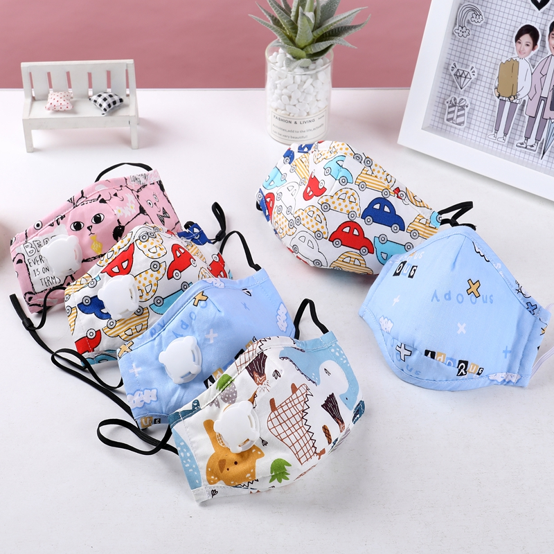 Free Shipping New10pieces/lot Kawaii Cartoon Mixed Color Kids Anti Pollution 5-layer Filtration Antiviral Face Mask Wholesale