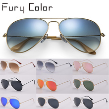 G15 glass lens design women men 3025 aviation Sunglasses gra