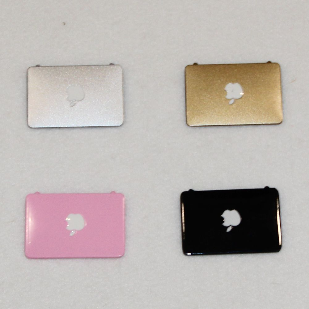 4 Color Pink/Silver/Black/Golden Mini Laptop Computer Doll House 1:12 Doll Accessories