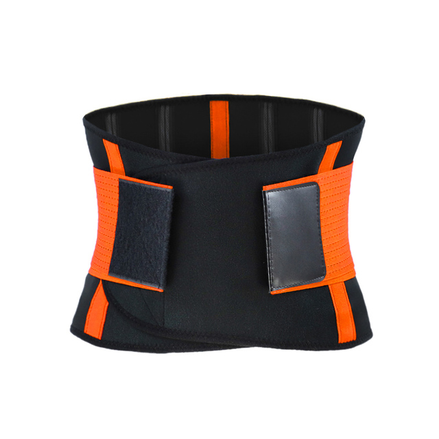 NEW Adjustable Waist Belt Sports Fitness Slimming Training Protective Brace Relief Back Pain Sweat 4