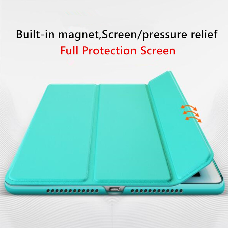 10.2 Case Slim 7th Smart for generation iPad Back 2019 Translucent Trifold PC Leather