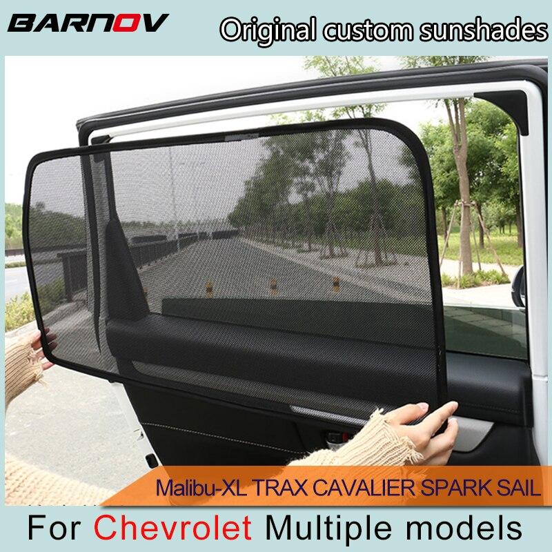 BARNOV Car Special Curtain Window SunShades Mesh Shade Blind Original Custom For Chevrolet Malibu-XL TRAX CAVALIER SPARK SAIL