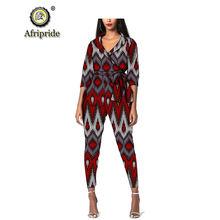 Женская модная одежда в африканском стиле комплект из 2 предметов