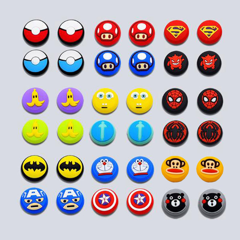 Cartoon Marvel Joystick Cover Thumb Stick Grip Cap For Nintend Switch NS Lite Joy-Con Controller JoyCon Gamepad Thumbstick Case