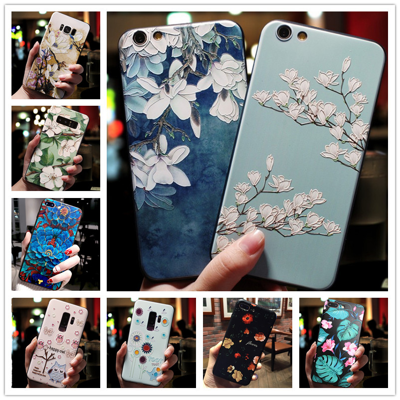 For <font><b>OPPO</b></font> A39 A57 <font><b>Case</b></font> 3D Flower Emboss Silicone Phone <font><b>Cases</b></font> For <font><b>OPPO</b></font> Neo 7 <font><b>A33</b></font> A71 A83 A73 Cover Soft For OPPOA57 A 39 neo7 image