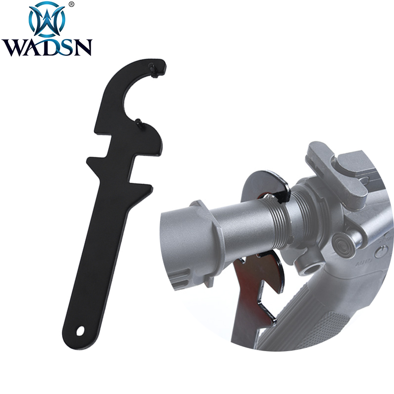 WADSN Airsoft Wrench Tool <font><b>M4</b></font> M16 AEG Delta Ring Butt Stock <font><b>Tube</b></font> Repair Tools Tactical Hunting Rifle Accessories image
