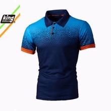 KB hombres Polo de hombre de manga corta Camisa de Polo de Color de contraste Ropa nueva verano Streetwear Casual de los hombres de la moda tops