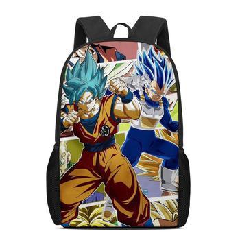 Custom Pattern Dragon Ball Blue 3D Print Anime Character Schoolbags Teenagers Boys Student Travel Book Bag Kids Mochila Backpack new anime rick and morty backpack anime bags student oxford schoolbags