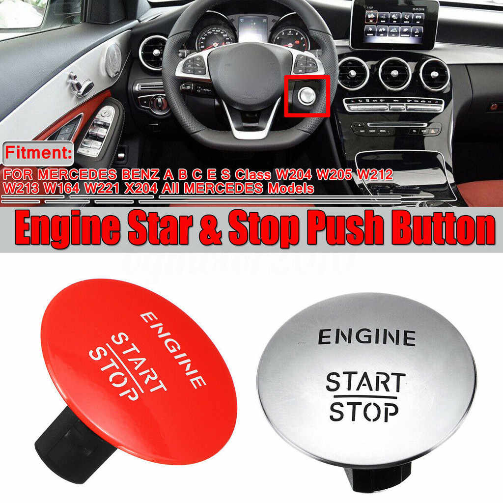 negro Universal Car Start Button Cover Cars One-Key Engine Start Stop Ignition Push Button Cover Decorative Universal Anti-Scratch Auto Engine Start Stop Switch Protective Cap Button Decoration