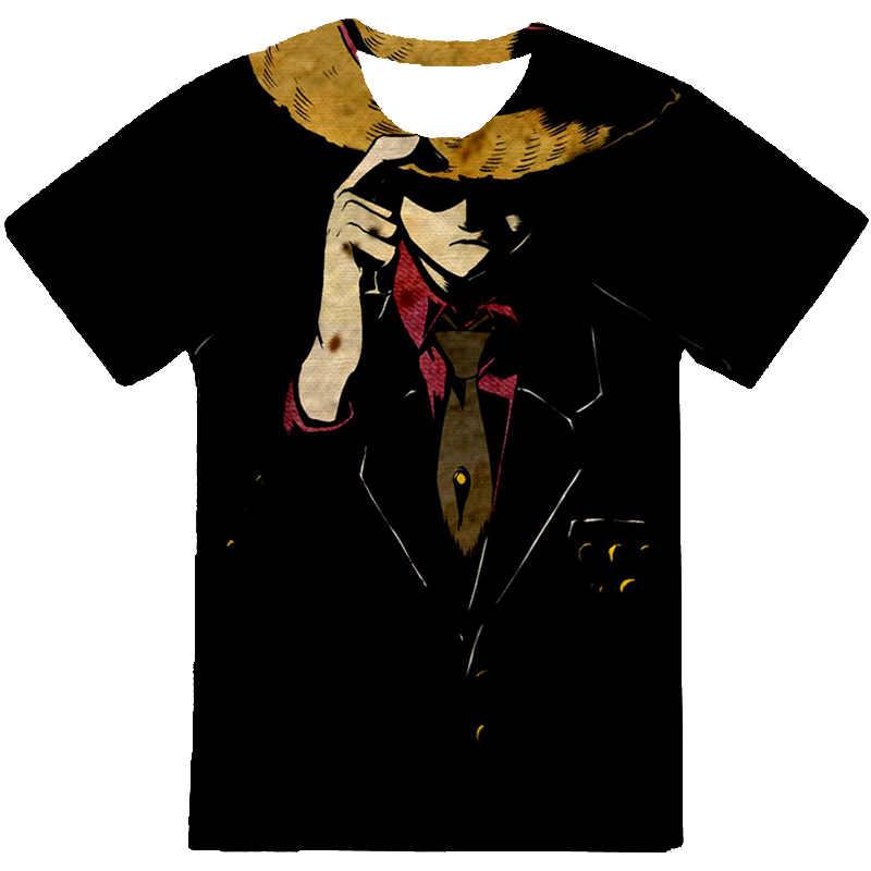 Impressão 3d verão uma peça t camisa anime japonês irmão de luffy tshirt masculino solto casual topo t roupas dos homens camiseta homme