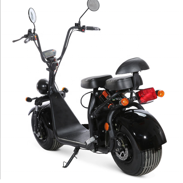 EEC COC Certified Street Legal Electric Vehicles Motorcycle 60V 20ah 2 Seats Adult Used Big Fat Tire Electric Citycoco Scooter 4