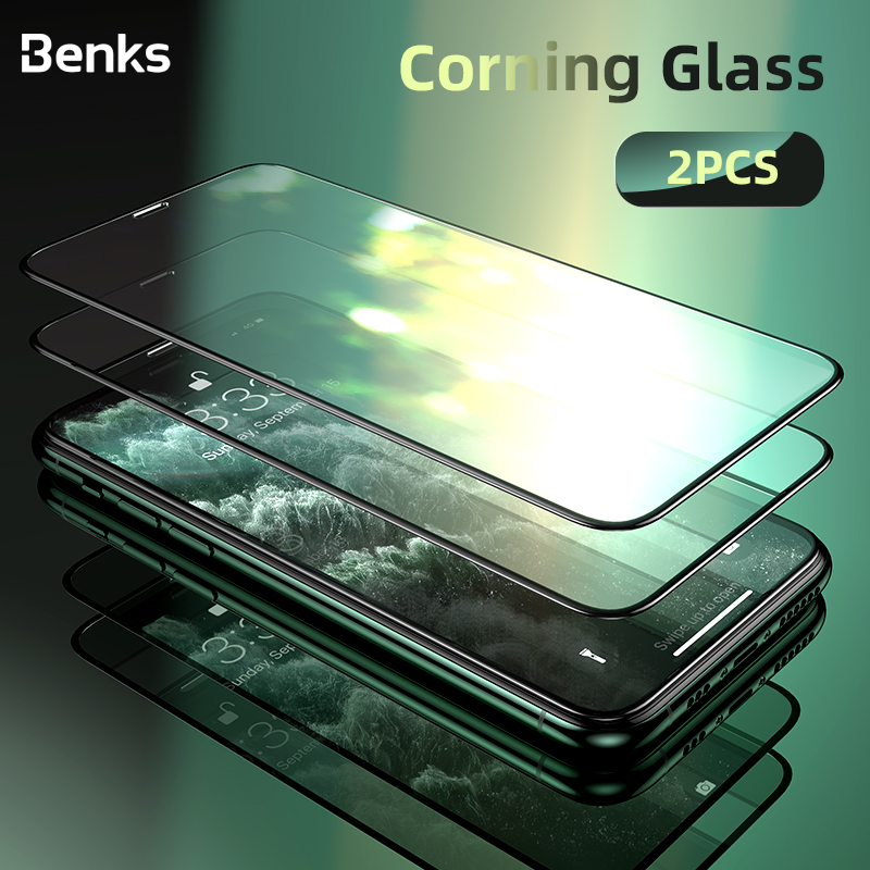 Benks 2pcs/lot Corning Tempered Glass XPRO Full Cover Screen Protector For <font><b>iPhone</b></font> <font><b>X</b></font> <font><b>XS</b></font> 11 Pro MAX XR 9H Hardness Protective <font><b>Film</b></font> image
