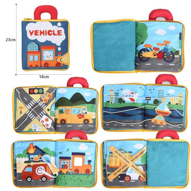 Beiens-Early-Learning-Baby-Toys-For-Children-Animals-Vehicle-Forest-Montessori-Soft-Cards-Cloth-Books-For