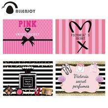 Фотофон Allenjoy фон розовая Виктория Секрет сладкий 16 фотографий в горошек День рождения фон для фотосъемки для маленьких девочек