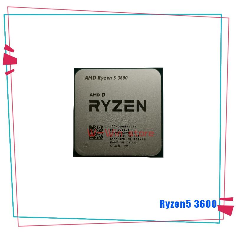 Image 3 - NEW AMD Ryzen 5 3600 R5 3600 3.6 GHz Six Core Twelve Thread CPU Processor 7NM 65W L3=32M 100 000000031 Socket AM4  With FanCPUs   -