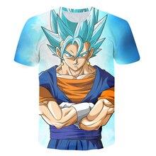 Dragon ball animação moda camiseta meninos e meninas verão ultra-claro 3d impresso roupas de criança de manga curta