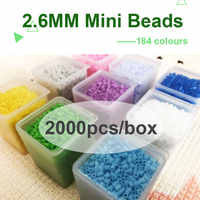 225colours #L Yantjouet 2.6mm Mini beads 2000pcs/box Hama Beads Perler Beads Easy to Store For Kids Iron Beads High Quality