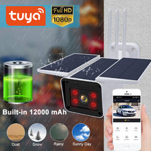 Tuya 1080P Solar Camera Outdoor Waterdichte Draadloze Batterij Camera Night Vision Two Way Audio Ingebouwde 12000 Mah smart Leven App(China)