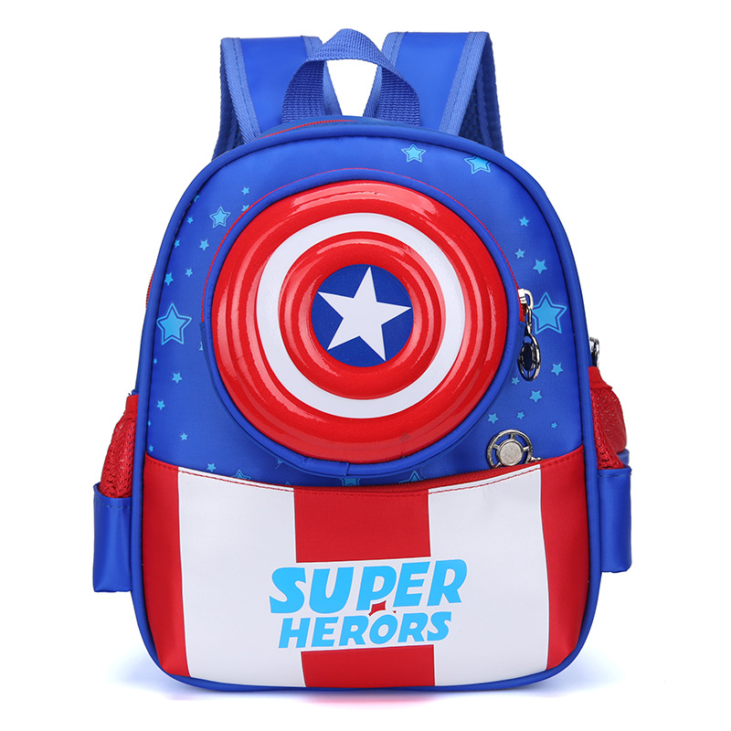 2019 New Cute Children's School Bag Kindergarten Spider Man Backpack Cartoon 3D Burden Small Class Student Bag