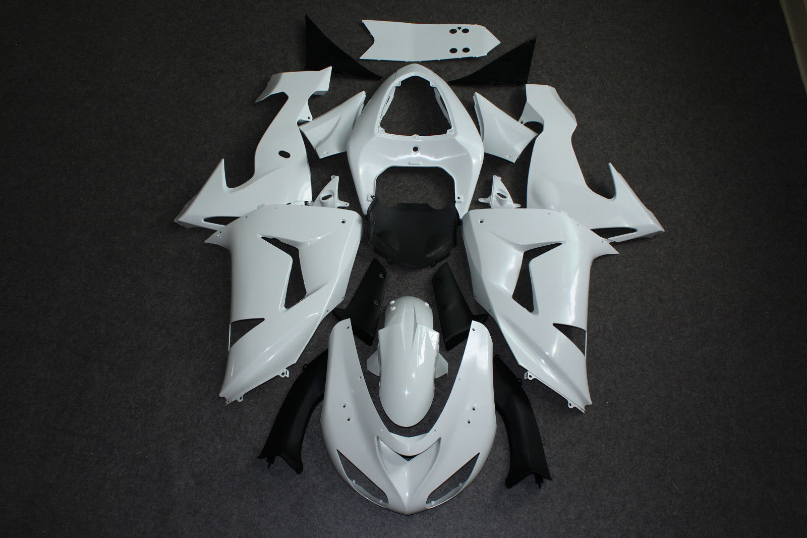 ZXMT Full Fairing Set Plastic Panel Kit For ZX 10R 2006 2007 ZX10R 06 07 Unpainted White ABS Complete