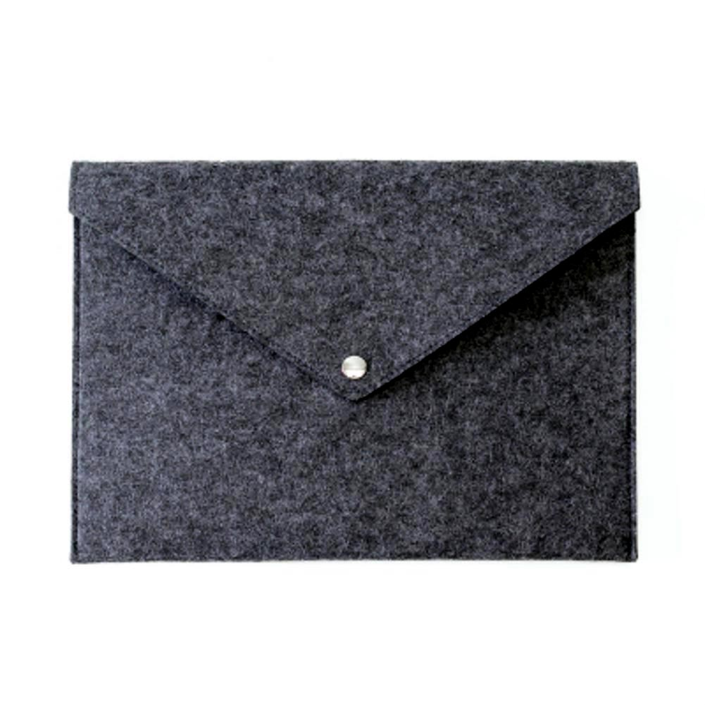 Simple Solid A4 Big Capacity Document Bag Business Briefcase File Folders Felt Filing Bags PUO88
