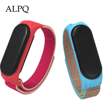 ALPQ Nylon Strap For Xiaomi mi Band 4 Bracelet Watchband 5 3 Breathable Replaceable Sport Loop - discount item  25% OFF Watches Accessories