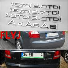 1.9 2.0 2.7 3.0 TDI quattro Letters Silver Chrome Emblem Car Styling Rear Trunk Discharging Mark Sticker for Audi A7 A8 A6L Q7(China)