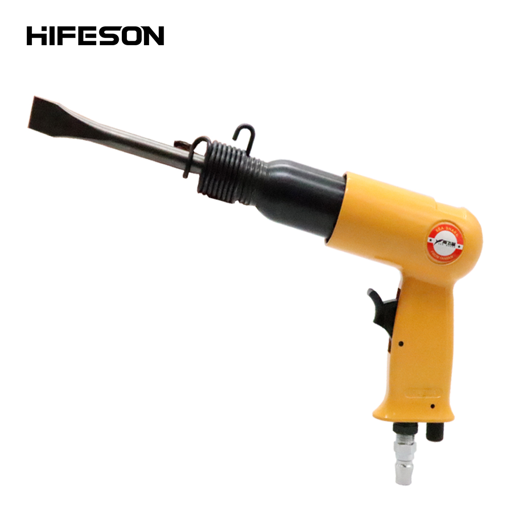 175mm Air Hammer Professional Handheld Pistol Gas Shovels 190Y Small Rust Remover Pneumatic Tools with 4 Chisels set