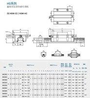 100% Original HIWIN Linear Guide Bearing HGW20HCZAH slidler block