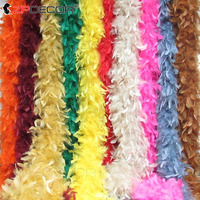 2 Yard 60G feather boa or natural turkey feather boa for slim evening dress and clothing or shawl
