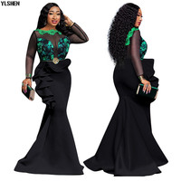 5 Colors African Dresses for Women Print Africa Dress African Clothes Fashion Long Maxi Evening Dress Robe Africaine Femme 2019