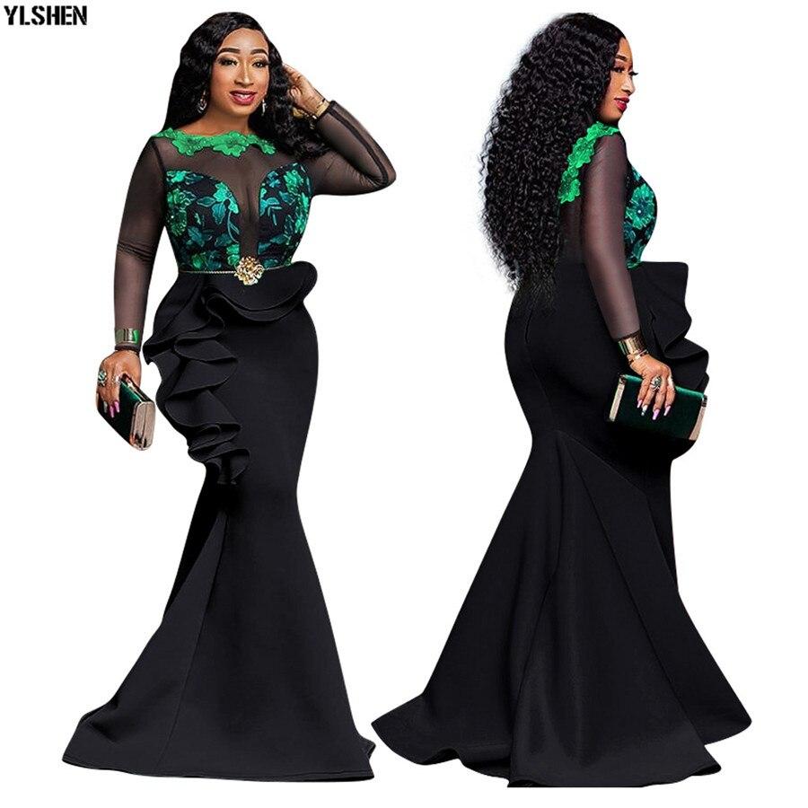 5 farben Afrikanische Kleider für Frauen Drucken Afrika Kleid Afrikanische Kleidung Mode Lange Maxi Abendkleid Robe Africaine Femme 2019