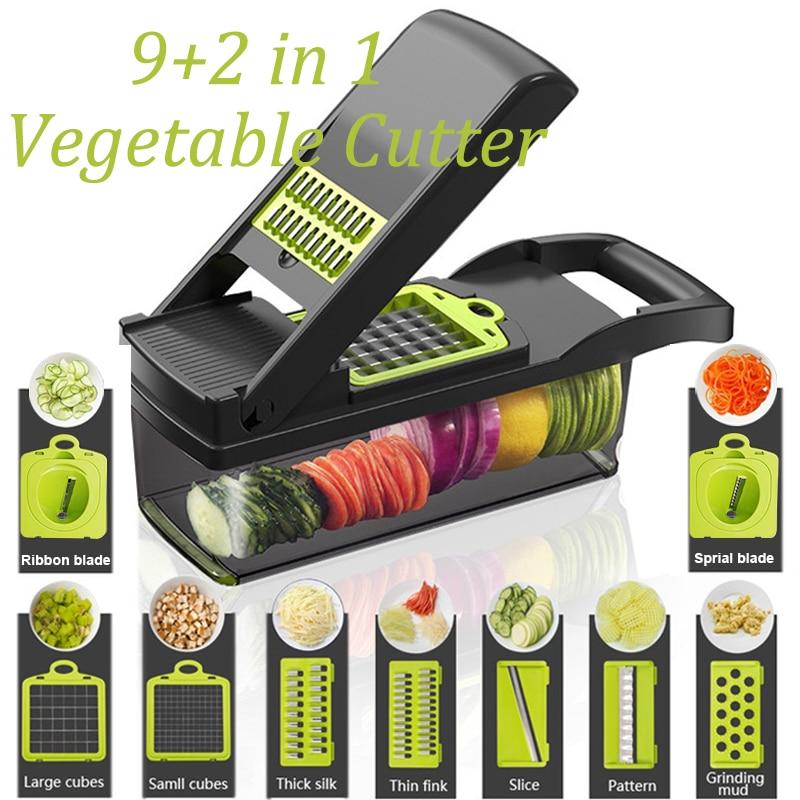 Vegetable Cutter Multifunctional Food Slicer Fruit Potato Peeler Carrot Onion Grater Kitchen Accessories Basket Fruit Slicer