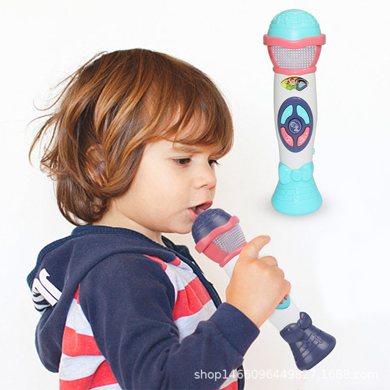 Children Model Music Microphone Toy GIRL'S And BOY'S-Recording Variable Sound-Amplifying Educational Microphone Toy