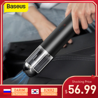 Baseus 15000Pa Auto Stofzuiger Draadloze Mini Car Cleaning Handheld Vacum Cleaner W Led Licht Voor Auto-interieur Cleaner